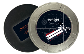 Gift card Christmas 2020 package film reel tin